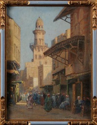 mosque in cairo by augustus william enness