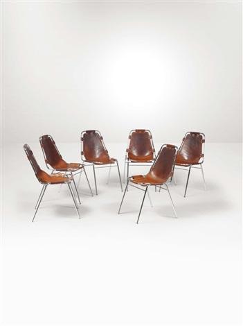 Sedie Metallo Pelle.Sei Sedie Con Struttura In Metallo E Seduta In Pelle By