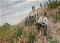 the young shepherds by christian pram henningsen