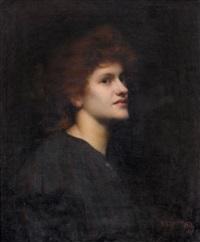 porträt einer rothaarigen dame by isaac snowman