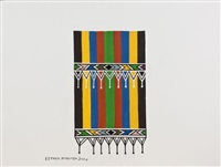 a ndebele blanket by esther mahlangu