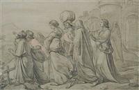 der engel führt lot und seine familie vor die stadt sodom by carl gottlieb peschel