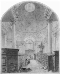 interior of st. stephen's, walbrook by thomas hosmer shepherd