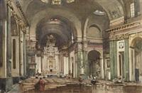 interior of the church of st. aloysius, glasgow by robert eadie