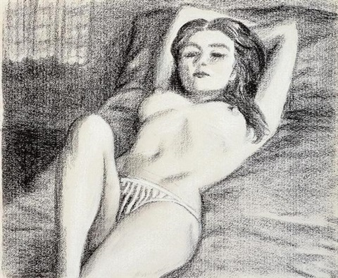 untitled reclining nude by john currin