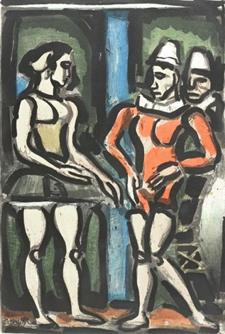 frontispiece parade from cirque de letoile filante by georges rouault