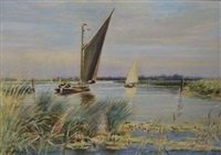 sailing on the broads by charles mayes wigg