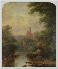 landscape with ruins by thomas doughty