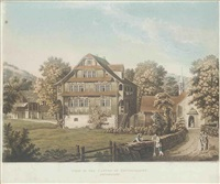 view in the canton of unterwalden (+ 8 others; 9 works) by rudolph ackermann