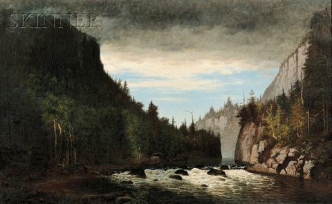 storm in the adirondacks by john joseph enneking