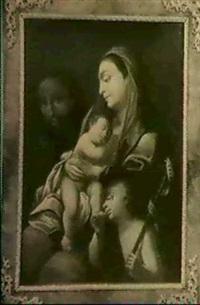 die heilige familie mit dem johannesknaben by bartholomäus altomonte