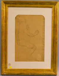 study for roger délivrant angélique (double-sided) by philip leslie hale