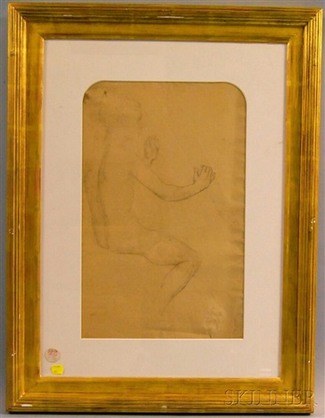 study for roger délivrant angélique double sided by philip leslie hale