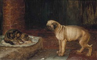 guarding the remains of supper by horatio henry couldery