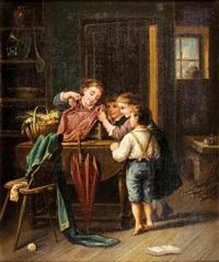 enfants découvrant une cage by jules leonard