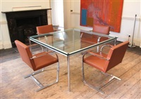 a set of four brno chairs by ludwig mies van der rohe