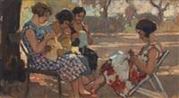 lavorando e chiacchierando nei giardini di ardenza by cafiero filippelli
