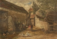 end of the day at the farmhouse by edmund elisha case