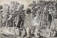die israeliten finden gefallen an den frauen der midianiter by nicolaes de bruyn