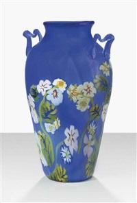 large floreale vase by vetreria fratelli toso