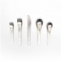 blue shark flatware set (svend siune for georg jensen) by georg jensen