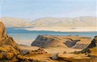 orientalische küstenpartie mit berbern und wüste by silvio poma