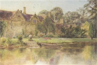 view of ashby de la launde, the seat of the king family, lincolnshire by arthur bainbridge