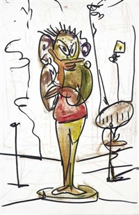 on the corner by george condo
