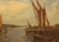 moored boats by charles mayes wigg
