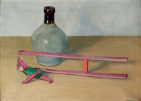 a still life with a jug and a toy by jan boon