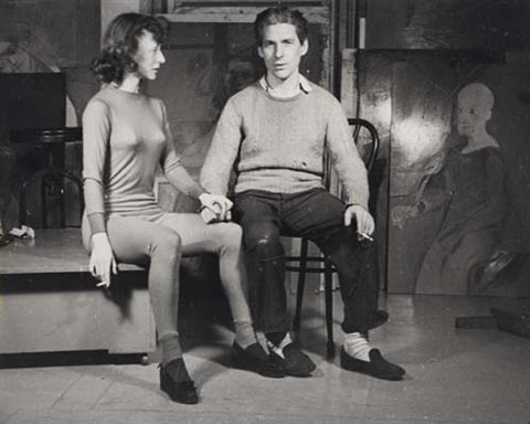 willem and elaine de kooning new york by ellen auerbach