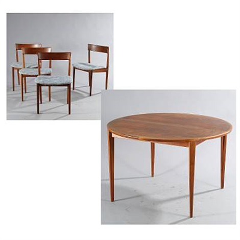 Round Dining Table Model And Four Chairs Model Set Of By - Round dining table with four chairs