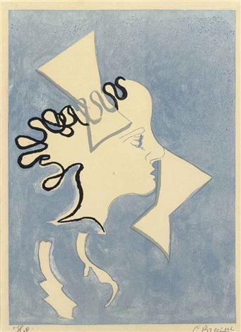 si je mourais là-bas : one print by georges braque