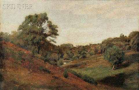 late summer landscape by alexander helwig wyant