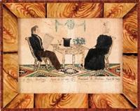 portrait of john and hannah rollins of wakefield by joseph h. davis