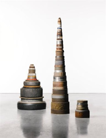 pegs three stages in 3 parts by tony cragg