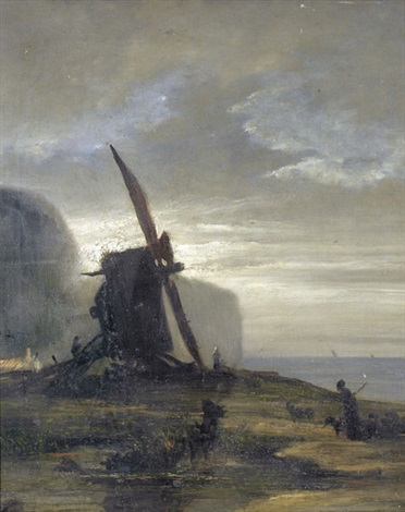 windmühle am meer by georges michel