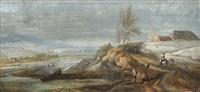 landskap med djur och figurstaffage by johanne marie (mme. westengaard) fosie
