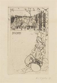 verschiedene ex libris (3) by heinrich vogeler