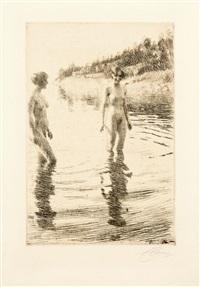 shallow (en eau peu profonde) by anders zorn
