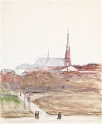 vyborg cathedral by hugo simberg
