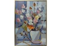 bouquet de fleurs dans un vase by jean françois millan
