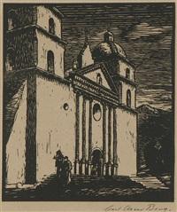 mission santa barbara by carl oscar borg