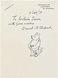 a sketch of pooh by ernest h. shepard