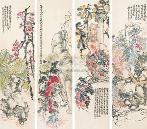 花鸟 in 4 parts by zhao yunhe