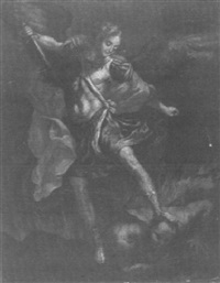 erzengel michael besiegt satan by pietro valentini