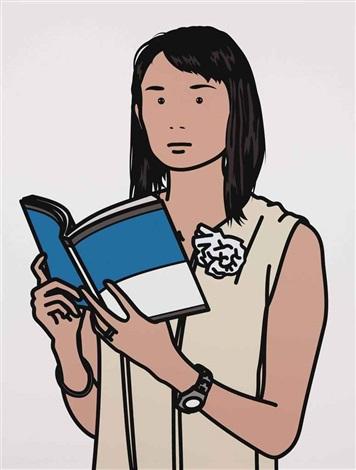 hijiri with book by julian opie
