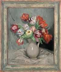 vase de tulipes by marie marguerite reol