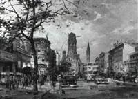 der kurfürstendamm in berlin by reinhard bartsch