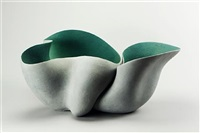 a large double bowl form by irene vonck
